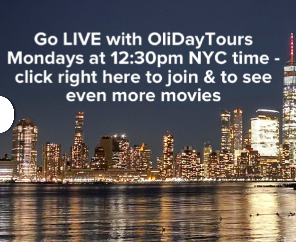 Go LIVE with Olidaytours, Mondays at 12:30pm EST